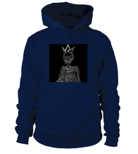 Load image into Gallery viewer, Black-Crowned Skeleton Signature Hoodie - Black Crown Fashion