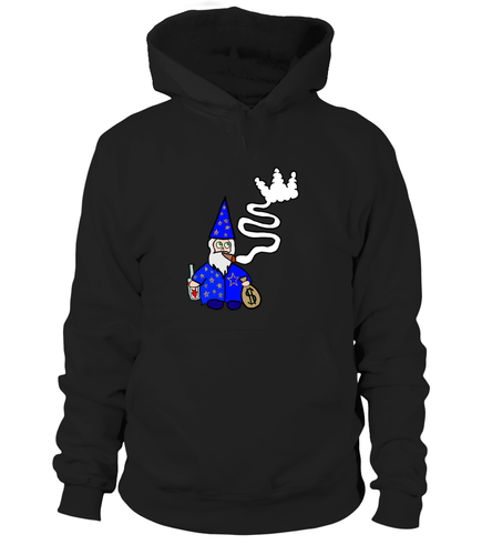 Wavy Wizard Black Crown Signature Hoodie - Black Crown Fashion