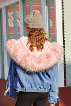 Load image into Gallery viewer, Comfort+ Fur Denim Jacket - Black Crown Fashion