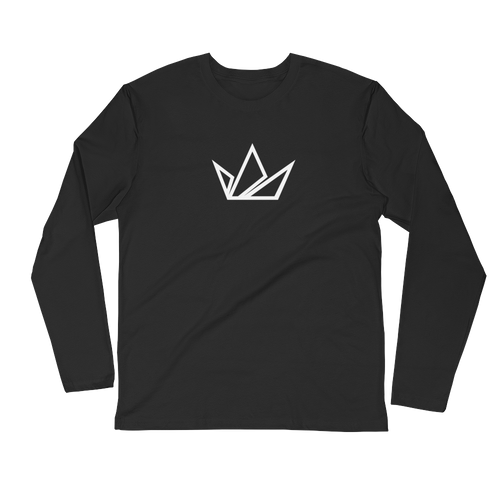L/S Black Crown Fashion Brand Tee - Black Crown Fashion