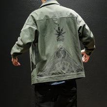 Load image into Gallery viewer, Peace Yourself Denim Jacket - Black Crown Fashion