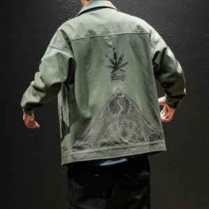 Peace Yourself Denim Jacket - Black Crown Fashion