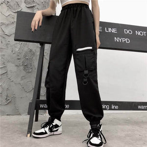Baggy Tactical Joggers - Black Crown Fashion