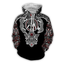 Load image into Gallery viewer, Way Of The Wolf Hoodie - Black Crown Fashion