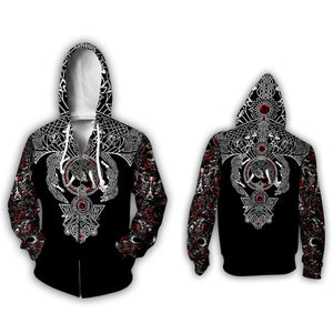 Way Of The Wolf Hoodie - Black Crown Fashion