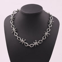 Load image into Gallery viewer, Barbed Wire Chain - Black Crown Fashion