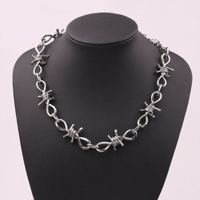 Barbed Wire Chain - Black Crown Fashion