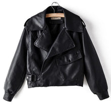Load image into Gallery viewer, Premium Leather Biker Jacket - Black Crown Fashion