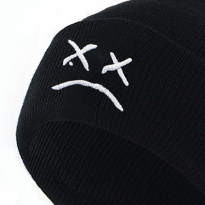 Lil Peep Hellboy Embroidered Beanie - Black Crown Fashion