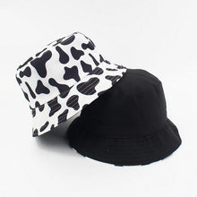Load image into Gallery viewer, Cow Print Bucket Hat - Black Crown Fashion