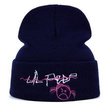 Load image into Gallery viewer, Lil Peep Come Over When You're Sober Embroidered Beanie - Black Crown Fashion