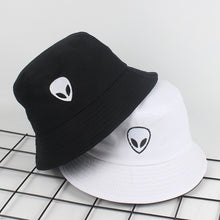 Load image into Gallery viewer, Embroidered Alien Bucket Hat - Black Crown Fashion