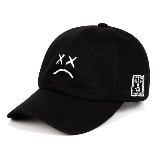 Lil Peep Embroidered Baseball Cap - Black Crown Fashion