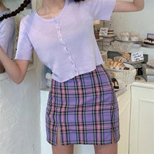 Load image into Gallery viewer, Pretty In Plaid Skirt - Black Crown Fashion