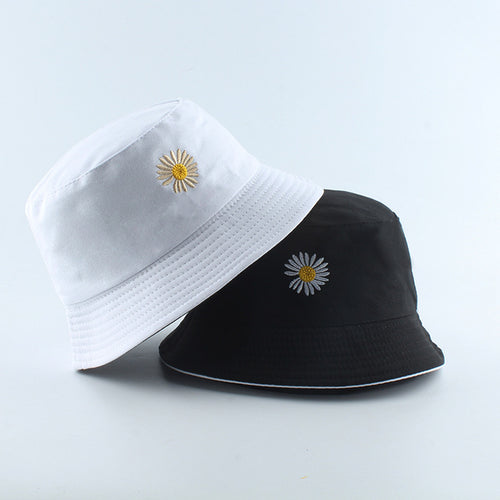 Flower Power Bucket Hat - Black Crown Fashion