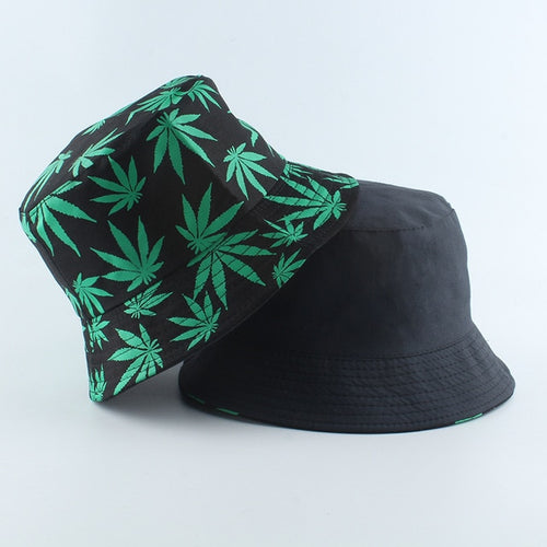 Marijuana Bucket Hat - Black Crown Fashion