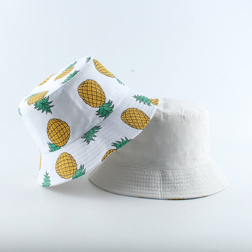 Pineapple Bucket Hat - Black Crown Fashion