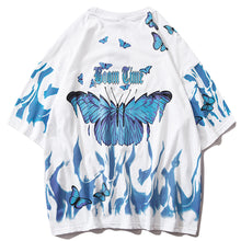 Load image into Gallery viewer, Boom Time Butterfly T-Shirt - Black Crown Fashion