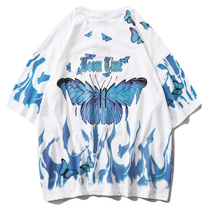 Boom Time Butterfly T-Shirt - Black Crown Fashion