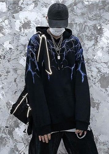 Lightning Hoodie - Black Crown Fashion