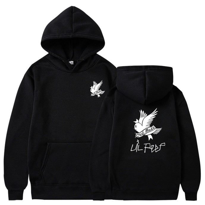 Lil Peep Cry Baby Hoodie - Black Crown Fashion