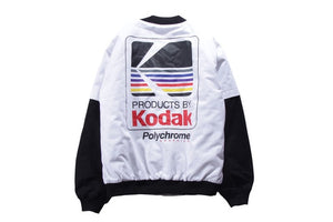 Kodak Bomber Jacket - Black Crown Fashion