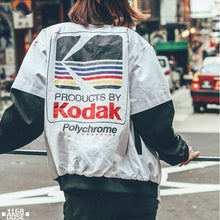 Load image into Gallery viewer, Kodak Bomber Jacket - Black Crown Fashion