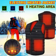 Load image into Gallery viewer, Heated Thermal Mountain Vest - Black Crown Fashion