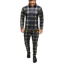 Load image into Gallery viewer, Plaid Tracksuit Sets - Black Crown Fashion