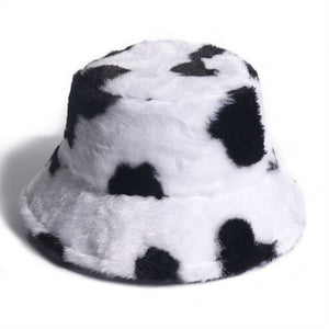 Soft Cow Bucket Hat - Black Crown Fashion
