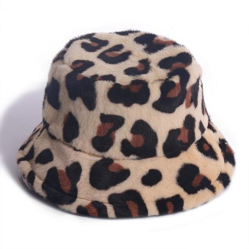 Soft Leopard Bucket Hat - Black Crown Fashion