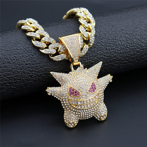 Iced Out Gengar Chain - Black Crown Fashion
