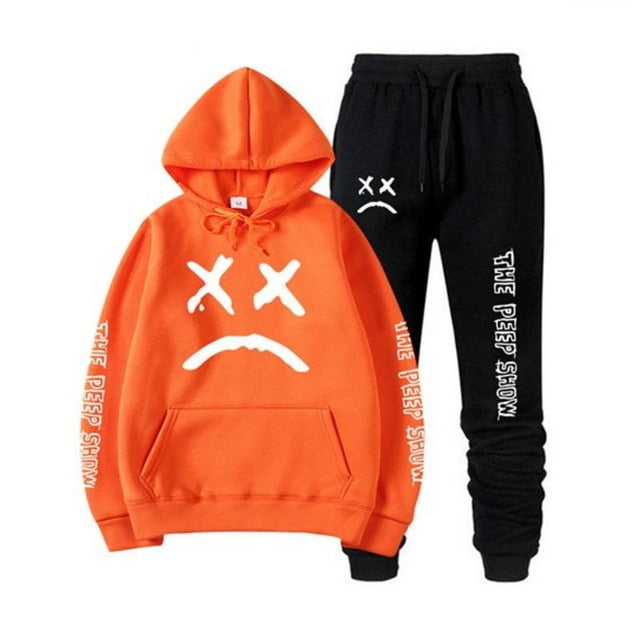 Lil Peep Tracksuit Sets - Black Crown Fashion