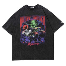Load image into Gallery viewer, Grave Digger Racing Monster Truck T-shirt - Black Crown Fashion