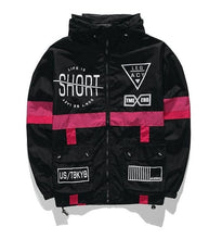 "Load image into Gallery viewer, ""Life Is Short"" Unisex Windbreaker"