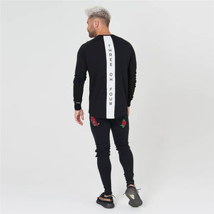 Three Oh Four L/S Tee - Black Crown Fashion