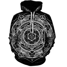 Load image into Gallery viewer, Astral Rave Hoodie - Black Crown Fashion