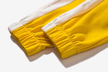 "Load image into Gallery viewer, Yellow/White ""Forbidden Colours"" Side Stripe Joggers - Black Crown Fashion"