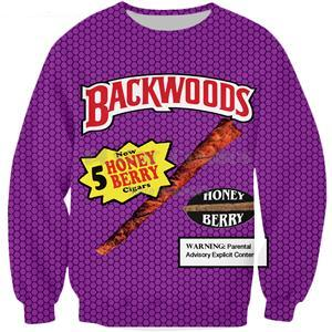 Purple Backwoods Crewneck - Black Crown Fashion