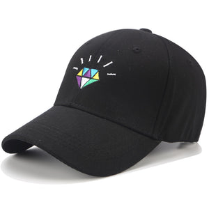 Embroidered Diamond Hat - Black Crown Fashion