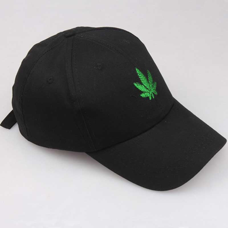 b013096792e07 Embroidered Weed Hat – Black Crown Fashion