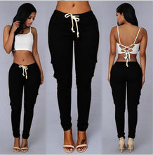 Load image into Gallery viewer, Women's Stretchy High Waist Pencil Pants - Black Crown Fashion