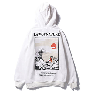 Law Of Nature Hoodie - Black Crown Fashion