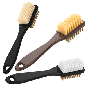 2-Sided Cleaning Brush/ Rubber Brush For Suede - Black Crown Fashion