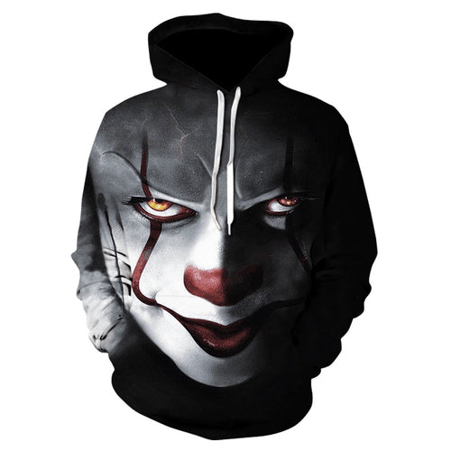 Stephen Kings IT Pennywise Hoodie - Black Crown Fashion