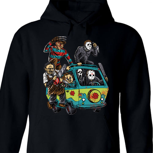 Jason's Horror Van Hoodie - Black Crown Fashion