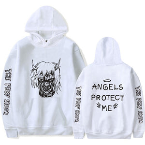 "Lil Peep Angels Protect ""ME"" Hoodie - Black Crown Fashion"