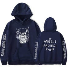 "Load image into Gallery viewer, Lil Peep Angels Protect ""ME"" Hoodie - Black Crown Fashion"