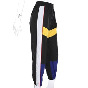 Activ-stripe Sweatpants - Black Crown Fashion