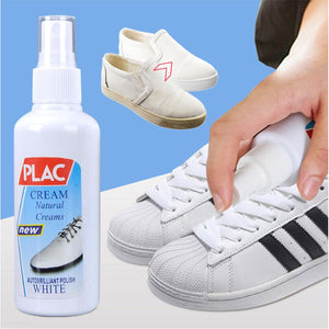 100ml Professional And Natural White Shoes Cleaner/Polisher Spray - Black Crown Fashion